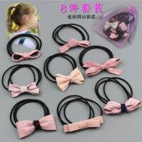 扎头发皮筋头绳清新马尾发圈橡皮筋蝴蝶结儿童发绳头花饰品