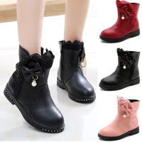 2到12岁11女孩10至9小孩穿的8女童皮鞋7秋冬6黑色5公主短靴4儿童3