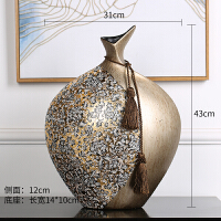 欧式时尚花瓶创意家居装饰品客厅电视柜玄关美式摆件奢华陶瓷贴花