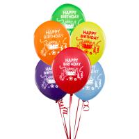 孩派/派对用品/生日派对/happy birthday/10寸/乳胶气球/生日快乐/6个