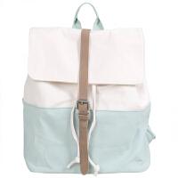 帆布包书包双肩包简约日系文艺少女原宿中学生背包