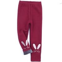 女童加绒冬季装打底裤儿童三层加厚棉裤外穿女宝宝2-3-4-5-6-78岁
