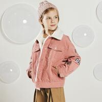 【加绒】davebella戴维贝拉kids冬季新款女童中大童外套DBK10721