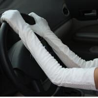 透气防滑手套加厚蕾丝遮阳手套女薄 电瓶车 开车骑车长
