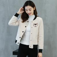 女装毛呢外套女女短款女加厚夹克上衣秋冬季新款韩版小个子保暖棒球服保暖宽松