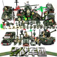 包邮哦启蒙军事系列积木人仔儿童益智拼装拼插玩具6-8-10-12岁以上男孩