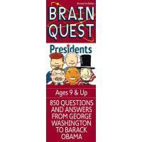 现货 英文原版 Brain Quest 益智挑战 关于美国总统 Presidents 9岁以上 Questions f