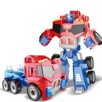 救援汽车人玩具 合金一步汽车救援机器人玩具粤星动漫星变战神擎天柱黄蜂