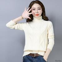 高领毛衣女2018新款冬季加厚保暖套头百搭纯色修身短款针织打底衫