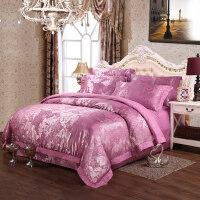 家纺 欧式大提花四件套 婚庆床品四件套床单被套4件套