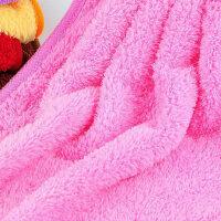 挂式珊瑚绒擦手巾可爱吸水毛巾家用浴室卫生间厨房洗碗抹布手帕布