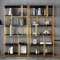 隔断书架置物架实木屏风落地展示书柜现代层架 置物铁艺架北欧书架隔断墙架子