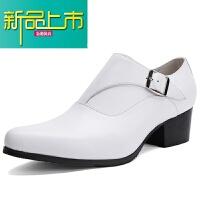 新品上市男士皮鞋英伦真皮尖头皮鞋型师潮流单鞋子小白鞋高跟鞋男鞋