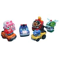 警察珀利 变形车警车珀利警察波利poli机器人卡通汽车动漫模型儿童玩具套装
