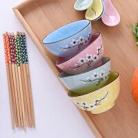 日式创意碗吃饭碗筷勺套装餐具碗单个装陶瓷套碗盘碟礼品套装家用