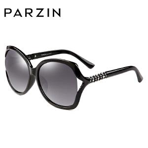 帕森TR90女士偏光太阳镜水钻镂空镶钻大框墨镜潮女驾驶镜9813