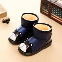 特惠儿童防水雪地靴子男女童保暖棉靴卡通防滑平底靴小童中童冬靴