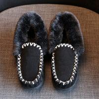 201902200111067402018冬季新款雪地靴韩版豆豆女鞋短靴加绒保暖学生棉鞋百搭小黑鞋