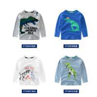 儿童长袖T恤纯棉中大童打底衫男童上衣恐龙卡通