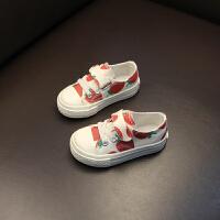 儿童帆布鞋童鞋女童宝宝布鞋子儿童草莓布鞋
