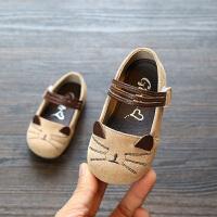 公主皮鞋婴幼儿学步鞋软底0-2岁宝宝鞋子童鞋
