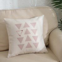 粉色ins棉麻抱枕靠垫客厅沙发汽车靠枕床头靠背垫抱枕套