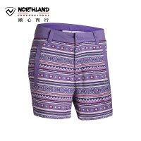 诺诗兰春夏户外旅游休闲舒适女士短裤沙滩裤GL052293