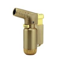 充气打火机 电镀定火小喷枪 全金属弯头直冲打火机 805-1
