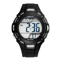 多功能手表大数字LED防水电子表游泳户外运动潮电子手表男