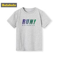 巴拉巴拉童装男童短袖T恤圆领印花2019新款夏装儿童半袖纯棉上衣