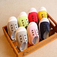 春秋婴儿布鞋儿童帆布鞋男童女童球鞋宝宝鞋子小童软底板鞋