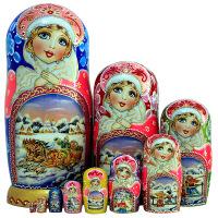 俄罗斯工艺特产10层套娃哈尔滨旅游礼物创意开业结婚礼品摆件