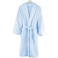 [当当自营] 三利 法兰绒加厚浴衣睡袍 均码 浅蓝 情侣装家居服 四季通用