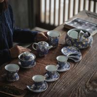 功夫茶具套装家用陶瓷茶壶茶杯盖碗套组