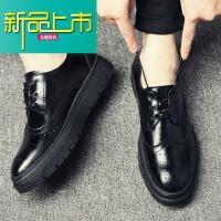 新品上市韩版青年雕花皮鞋男英伦休闲鞋工作西装新郎巴洛克男鞋