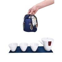 便携式包迷你茶具茶杯套装旅行陶瓷功夫快客杯