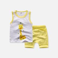 宝宝夏季男童女童无袖套装纯棉背心裤子两件套儿童装