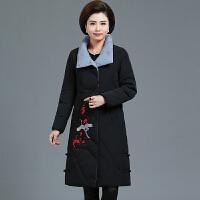 胖妈妈冬装棉衣洋气外套加厚加肥加大50岁中年人女羽绒棉袄中老年