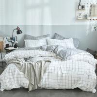 学生宿舍全棉三件套单人床单被套纯棉四件套1.8m床上用品被子定制