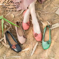【下单只需要199元】玛菲玛图单鞋女2020春季新款个性设计小花朵手工软皮软底平底女鞋3105-2W