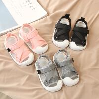 夏季宝宝凉鞋 时尚新款0-1-3岁包头软底舒适婴幼儿男女童学步凉鞋