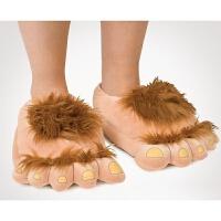 创意搞怪男女冬季情侣新款可爱五指图案脚趾头居家保暖卡通棉拖鞋 图色 36-42