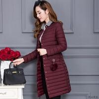 棉衣外套2018秋冬季新款韩版女士修身显瘦轻薄羽绒中长款棉袄