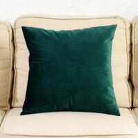 纯色沙发靠垫抱枕靠枕办公室靠背长方形腰枕套含芯订做