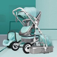 高景观婴儿推车双向可坐可躺轻便四轮避震折叠新生宝宝推车