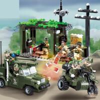 军事拼装组装坦克6模型89岁玩具男孩子生日礼物