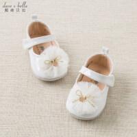 davebella戴维贝拉春装新款女宝宝新生婴幼儿软底步前鞋子DB11608