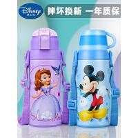 迪士尼儿童保温杯带吸管水杯小学生316不锈钢水壶幼儿园宝宝杯子