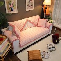 冬季毛绒沙发垫子加厚防滑简约现代北欧式客厅皮坐垫套罩巾全包盖k