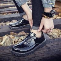青年流行男士百搭潮鞋秋季英伦风休闲皮鞋正装男鞋子商务亮皮